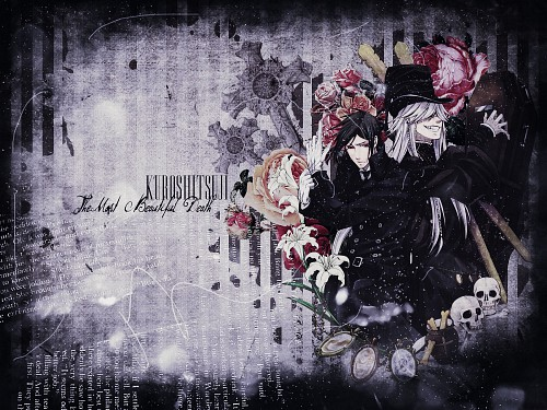 Yana Toboso, A-1 Pictures, Kuroshitsuji, Undertaker, Sebastian Michaelis Wallpaper