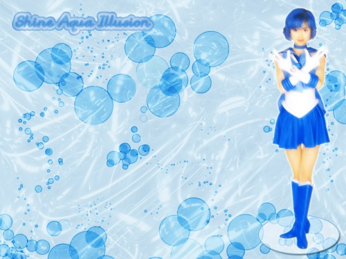 Toei Animation, Bishoujo Senshi Sailor Moon, Sailor Mercury, Live Action Wallpaper