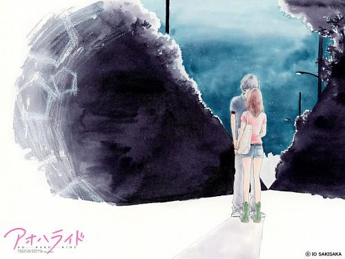 Io Sakisaka, Ao Haru Ride, Futaba Yoshioka, Kou Tanaka, Official Wallpaper