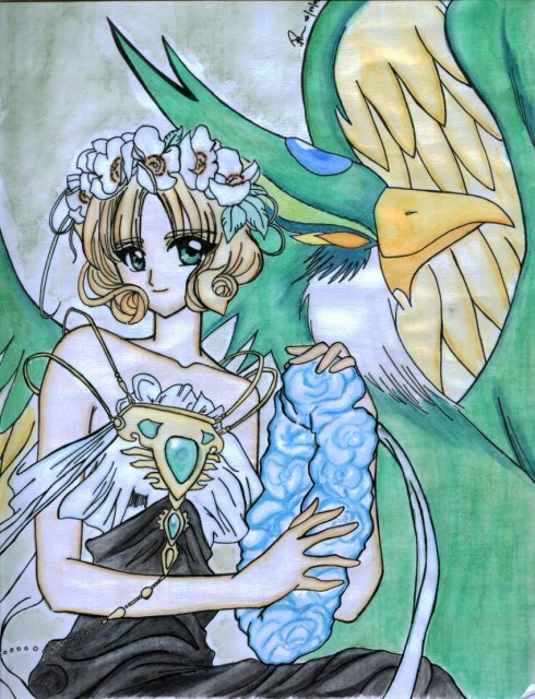 CLAMP, Magic Knight Rayearth, Fuu Hououji, Member Art