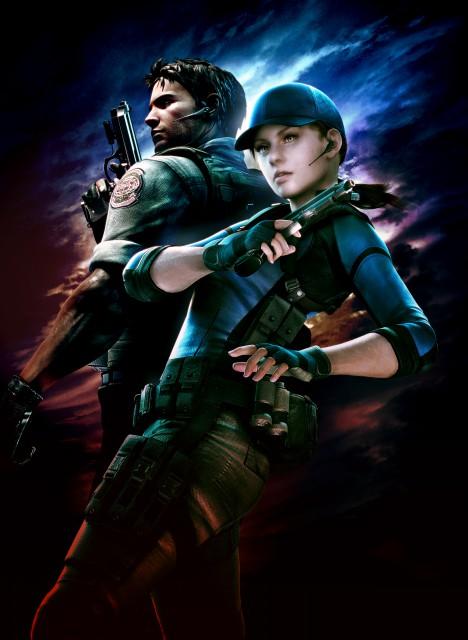 Capcom, Resident Evil 5, Jill Valentine, Chris Redfield, Official Digital Art