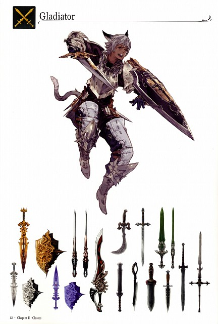 Square Enix, The Art of Eorzea, Final Fantasy XIV, Prop Designs, Character Sheet