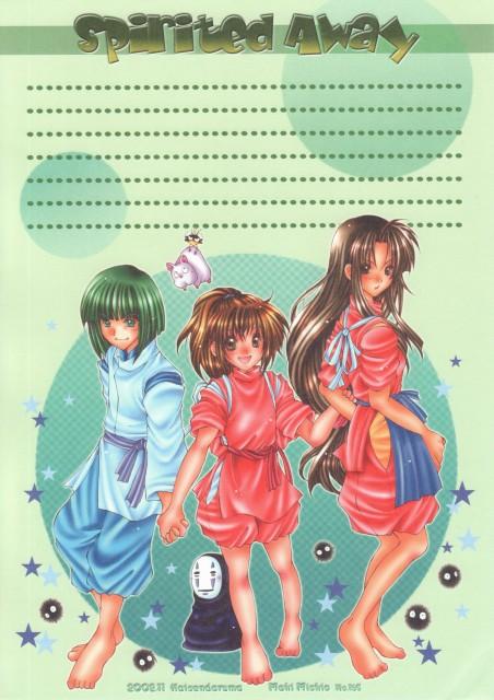 Spirited Away, Kaonashi, Boh, Lin, Susuwatari