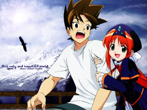 Gainax, This Ugly Yet Beautiful World, Takeru Takemoto, Hikari Hoshino Wallpaper