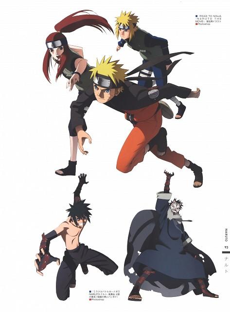 Naruto, The Art of Tetsuya Nishio: Full Spectrum, Naruto Uzumaki, Kushina Uzumaki, Minato Namikaze