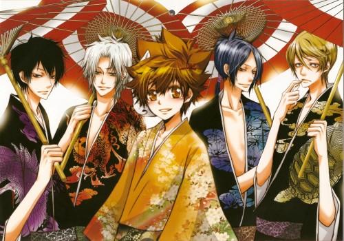Ringo Momo, Katekyo Hitman Reborn!, Kyoya Hibari, Hayato Gokudera, Tsunayoshi Sawada