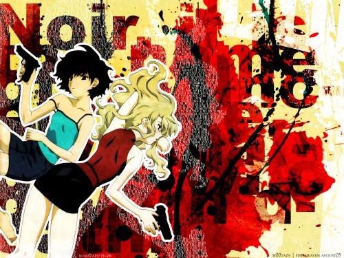 Bee Train, Noir, Kirika Yuumura, Mireille Bouquet Wallpaper