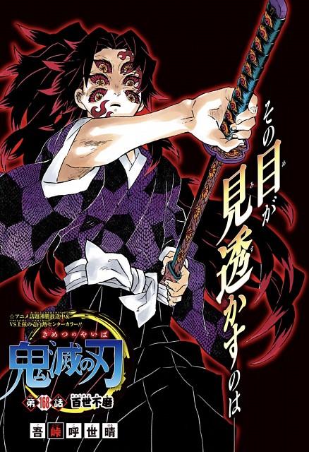 Koyoharu Gotouge, Kimetsu no Yaiba, Kokushibou, Chapter Cover
