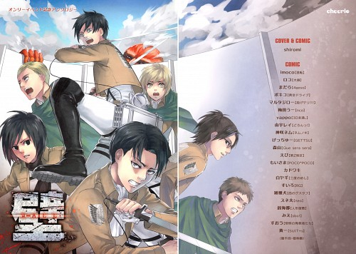Shingeki no Kyojin, Armin Arlert, Mikasa Ackerman, Jean Kirschstein, Levi Ackerman