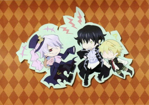 Jun Mochizuki, Pandora Hearts, Gilbert Nightray, Oz Vessalius, Xerxes Break