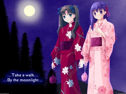 TYPE-MOON, Fate/stay night, Sakura Matou, Rin Tohsaka Wallpaper