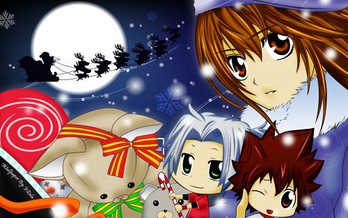 Akira Amano, Artland, Katekyo Hitman Reborn!, Hayato Gokudera, Kyoko Sasagawa Wallpaper