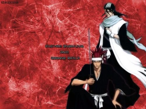 Kubo Tite, Studio Pierrot, Bleach, Byakuya Kuchiki, Renji Abarai Wallpaper