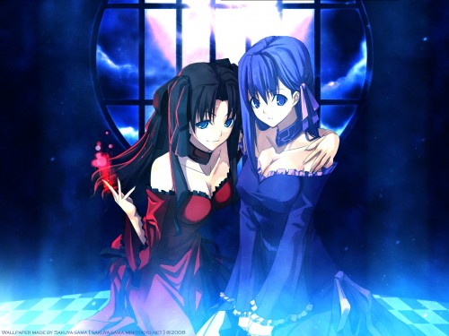 TYPE-MOON, Fate/Hollow ataraxia, Rin Tohsaka, Sakura Matou Wallpaper