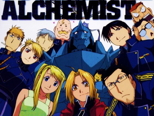 BONES, Fullmetal Alchemist, Roy Mustang, Alex Louis Armstrong, Alphonse Elric