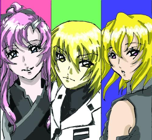 Sunrise (Studio), Mobile Suit Gundam SEED Destiny, Stellar Loussier, Cagalli Yula Athha, Lacus Clyne