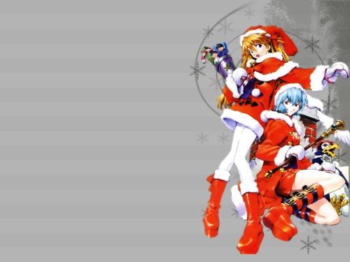 Yoshiyuki Sadamoto, Neon Genesis Evangelion, Asuka Langley Soryu, Pen Pen, Rei Ayanami Wallpaper