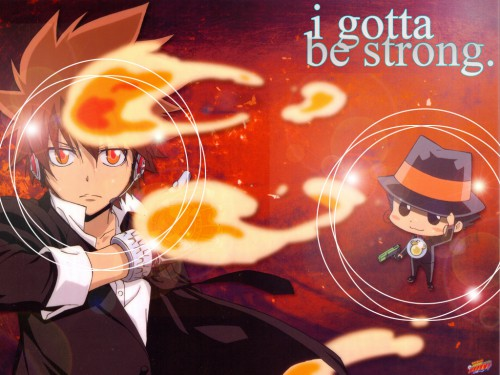 Akira Amano, Artland, Katekyo Hitman Reborn!, Tsunayoshi Sawada, Reborn (Character) Wallpaper