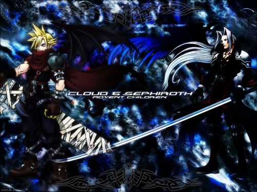 Square Enix, Kingdom Hearts, Cloud Strife, Sephiroth Wallpaper