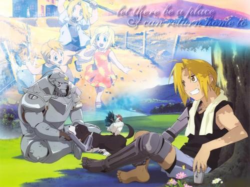 Hiromu Arakawa, BONES, Fullmetal Alchemist, Winry Rockbell, Alphonse Elric Wallpaper
