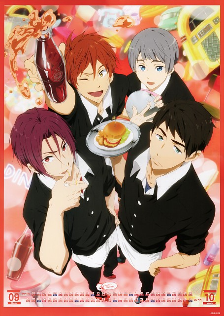 Kyoto Animation, Free!, Free! -Eternal Summer- Calendar 2015, Sousuke Yamazaki, Rin Matsuoka