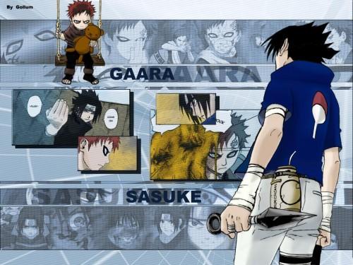 Masashi Kishimoto, Studio Pierrot, Naruto, Gaara, Sasuke Uchiha Wallpaper