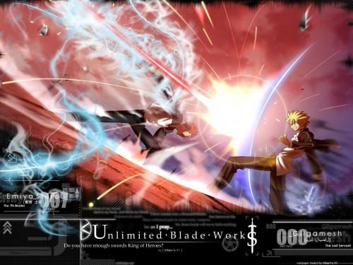 TYPE-MOON, Fate/stay night, Shiro Emiya, Gilgamesh (Fate/stay night) Wallpaper