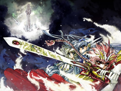 CLAMP, Magic Knight Rayearth, Fuu Hououji, Umi Ryuuzaki, Hikaru Shidou Wallpaper