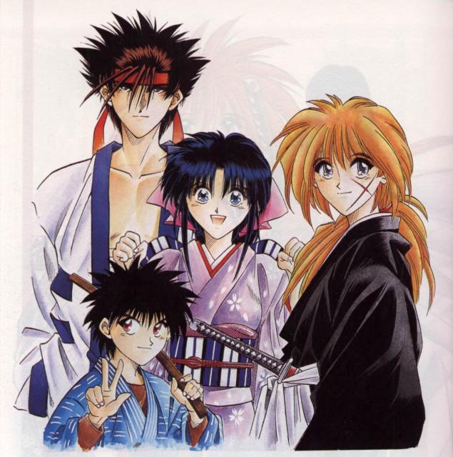 Nobuhiro Watsuki, Rurouni Kenshin, Kenshin Himura, Yahiko Myoujin, Sanosuke Sagara