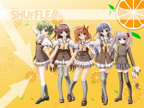 Hiro Suzuhira, Shuffle!, Kaede Fuyou, Lisianthus Eustoma, Asa Shigure Wallpaper