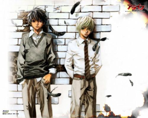 Toka Adachi, Alive: The Final Evolution, Taisuke Kano, Yuichi Hirose, Official Wallpaper