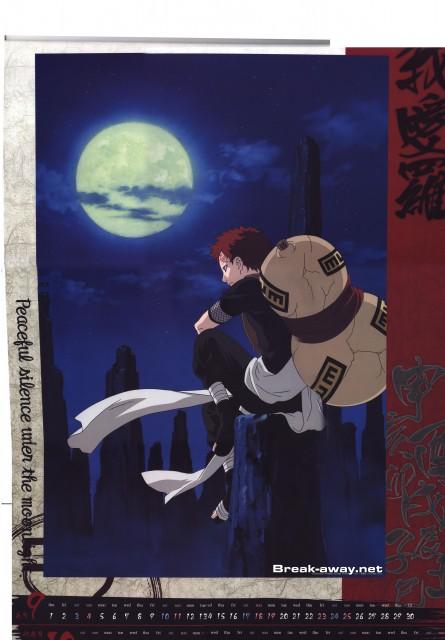 Studio Pierrot, Naruto, Gaara, Calendar