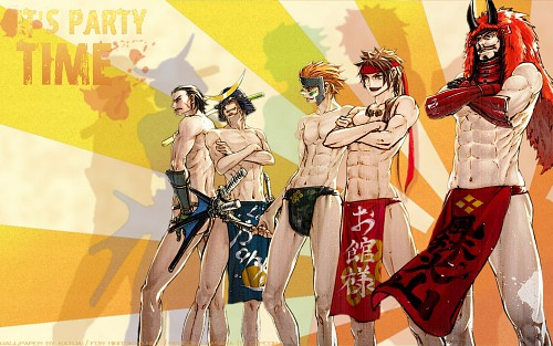Makoto Tsuchibayashi, Capcom, Sengoku Basara, Kojuro Katakura, Sasuke Sarutobi Wallpaper