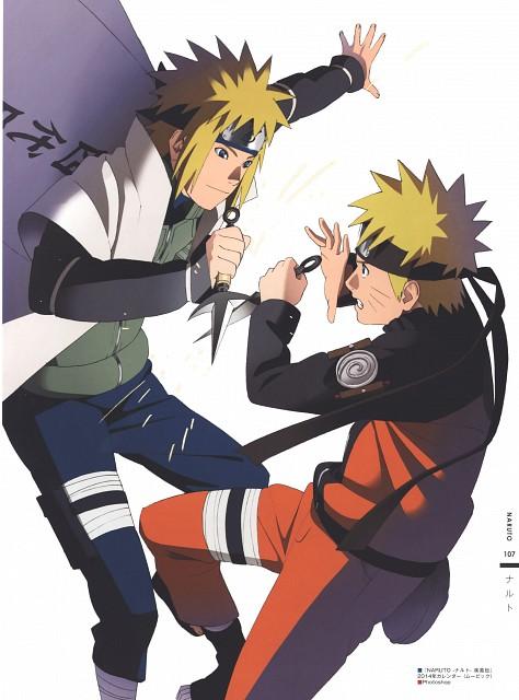 Naruto, The Art of Tetsuya Nishio: Full Spectrum, Minato Namikaze, Naruto Uzumaki