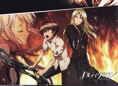 Production I.G, GUILTY CROWN, Inori Yuzuriha, Gai Tsutsugami, Shu Ouma
