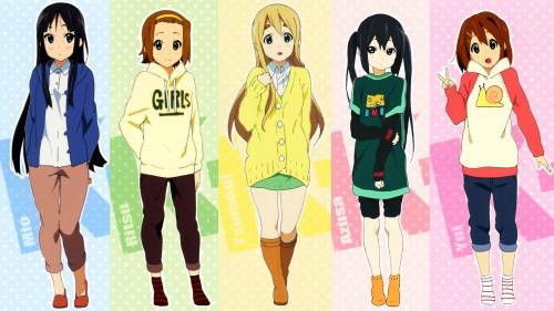 Kakifly, Kyoto Animation, K-On!, Mio Akiyama, Ritsu Tainaka