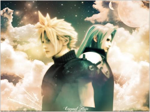 Square Enix, Final Fantasy VII: Advent Children, Sephiroth, Cloud Strife Wallpaper