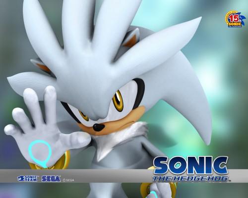 Sega, SNK, Sonic the Hedgehog, Silver The Hedgehog, Official Wallpaper