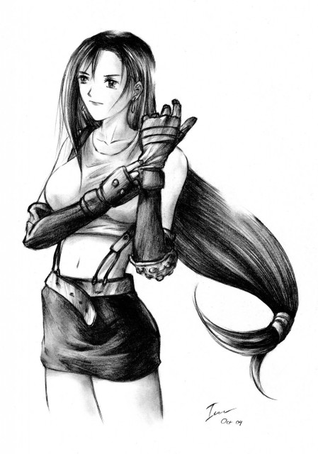 Square Enix, Final Fantasy VII, Tifa Lockhart, Member Art