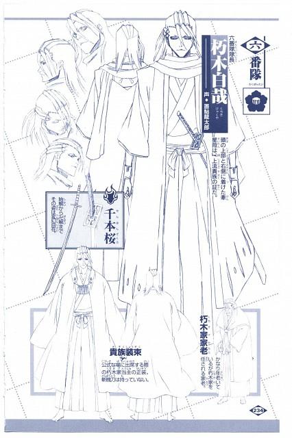 Studio Pierrot, Bleach, Byakuya Kuchiki, Character Sheet