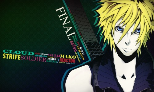 Miwa Shirow, Final Fantasy VII, Cloud Strife Wallpaper