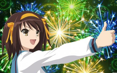 Noizi Ito, Kyoto Animation, The Melancholy of Suzumiya Haruhi, Haruhi Suzumiya, Vector Art Wallpaper