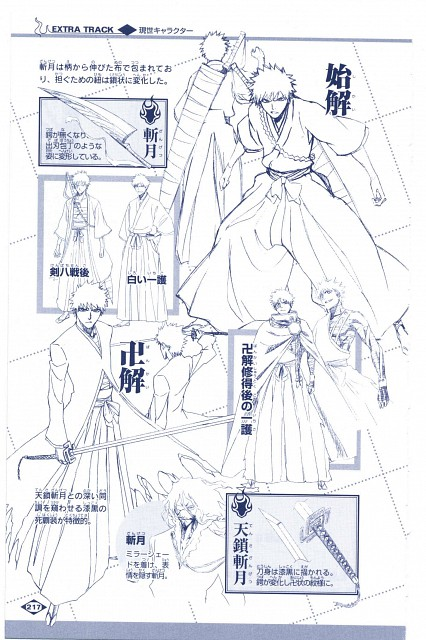Studio Pierrot, Bleach, Zangetsu, Ichigo Kurosaki, Character Sheet