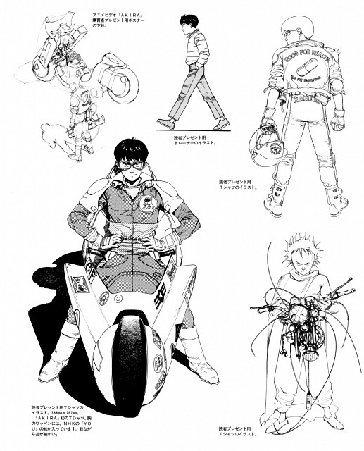 Katsuhiro Otomo, Akira, Akira Club, Shotaro Kaneda, Tetsuo Shima