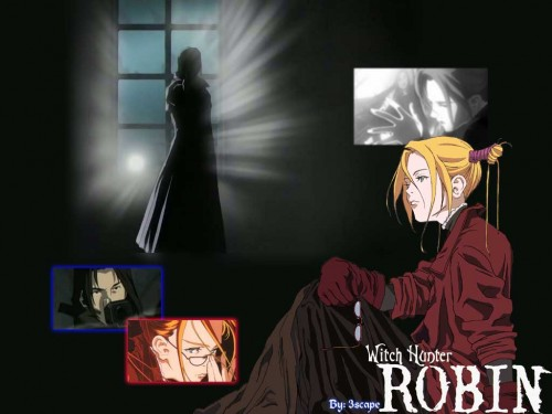Sunrise (Studio), Witch Hunter Robin, Amon (Witch Hunter Robin), Robin Sena Wallpaper