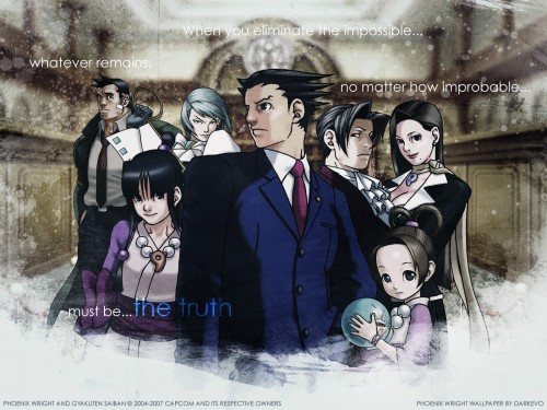 Capcom, Ace Attorney, Miles Edgeworth, Phoenix Wright, Pearl Fey Wallpaper