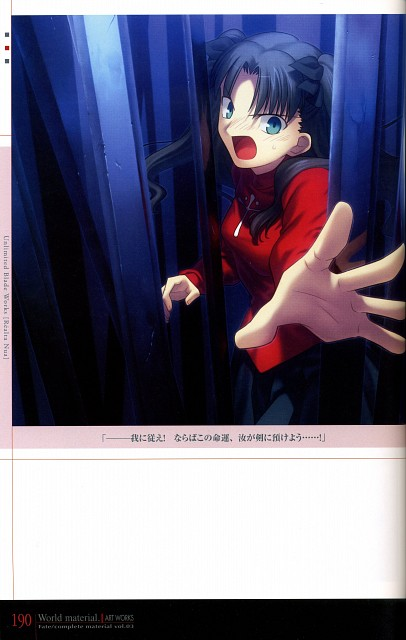 TYPE-MOON, Fate/complete material I Art material., Fate/stay night, Rin Tohsaka