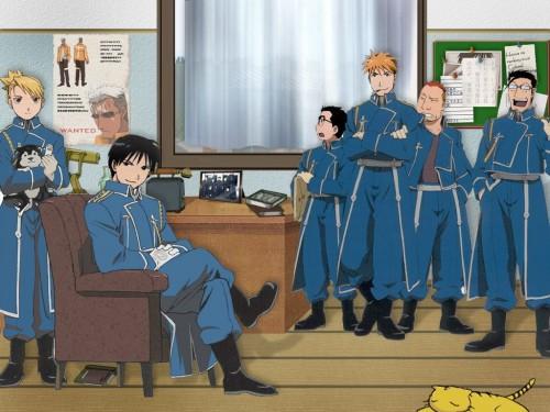 Hiromu Arakawa, BONES, Fullmetal Alchemist, Vato Falman, Kain Fuery Wallpaper