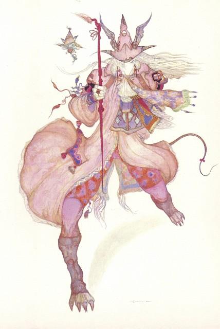 Yoshitaka Amano, Square Enix, Final Fantasy IX Postcard Book, Final Fantasy IX, Freya Crescent