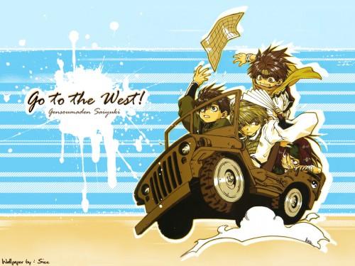 Kazuya Minekura, Studio Pierrot, Saiyuki, Son Goku (Saiyuki), Sha Gojyo Wallpaper